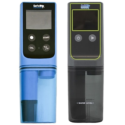 Solaxx® SAFEDIP™ 6-in-1 Electronic Chemistry Salt Water Tester For Pools and Spas, Blue