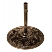 Blue Wave Art Deco 50 lbs. Aluminum Umbrella Base, Bronze