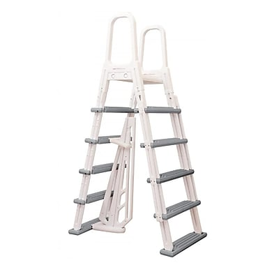 Blue Wave Heavy Duty A-Frame Ladder For Above-Ground Pools, White
