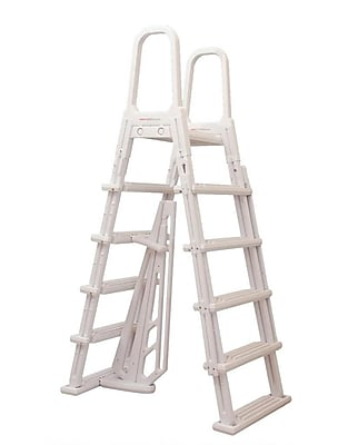 Blue Wave A-Frame Flip Up Ladder For Above-Ground Pools, White