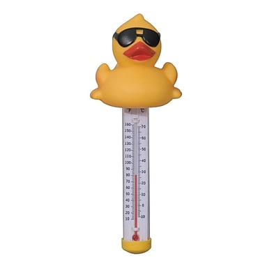 GAME™ Derby Duck® Floating Pool and Spa Thermometer, Yellow/White