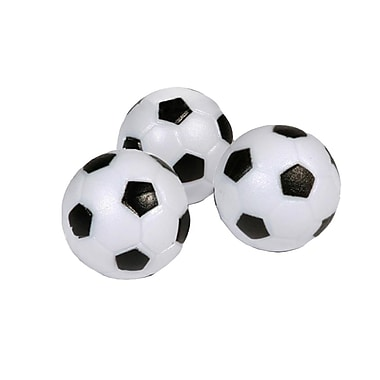 Hathaway™ 35mm Soccer Ball Style Foosball, Black/White, 3/Pack