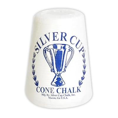 """""Hathaway 5 1/4"""""""" x 4 1/2"""""""" x 4 1/2"""""""" Silver Cup Cone Talc Chalk, White"""""" 1022842"