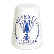 "Hathaway™ 5 1/4"" x 4 1/2"" x 4 1/2"" Silver Cup Cone Talc Chalk, White"