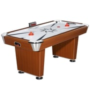 Hathaway™ Midtown 6' Air Hockey Table, Cherry/Silver
