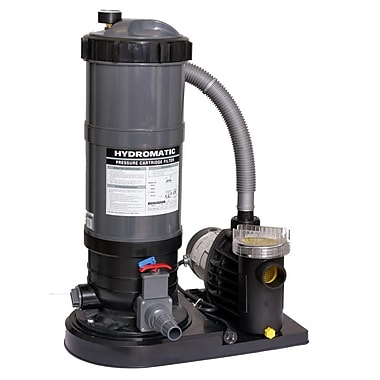 Blue Wave Hydro 120 sq. ft. Cartridge Filter System With 1.5 HP Pump, Gray/Black