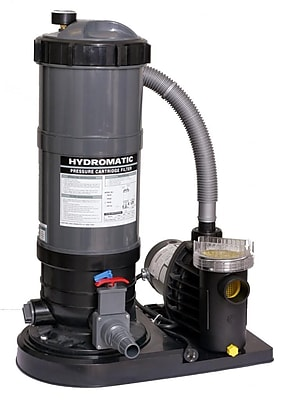 Blue Wave Hydro™ 90 sq. ft. Cartridge Filter System With 1 HP Pump, Gray/Black