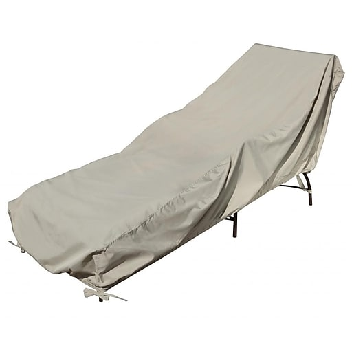 Blue Wave Chaise Lounge Winter Cover, Champagne