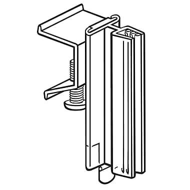 FFR Merchandising ? Porte-affiche pour support à glissière SuperGrip, 3 po, pour 0,1 po épais, transparent, 12/pqt (110869801)