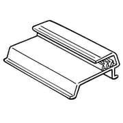"""FFR Merchandising® SuperGrip® 1"""" Shelf Channel Sign Holder With Soft Flexible Bead, Clear"""