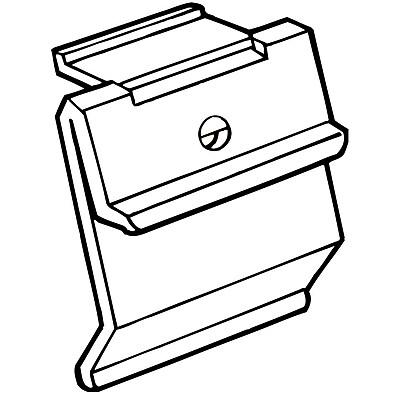 FFR Merchandising Fold-N-Hold Shelf Channel Flush Polypropylene Sign Holder, 1.75