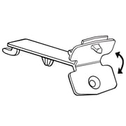 "FFR Merchandising 0.63"" Fold-N-Hold Flush Polypropylene Sign Holder, 46/Pack"