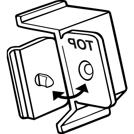 "FFR Merchandising® Fold-N-Hold® 1.25"" x 0.75"" Shelf Channel Angled Flag Sign Holder, Natural"