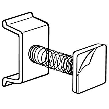 FFR Merchandising ? Support à ressort pour glissière, en plastique, 1 po, 24/paquet (302215002)