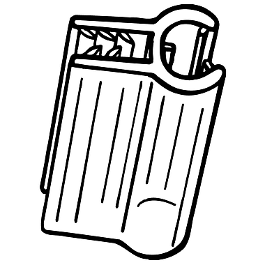FFR Merchandising ? Porte-affiche pour câble SuperGrip, 1 x 0,2 po, position drapeau, transparent, 55/paquet (1111431202)