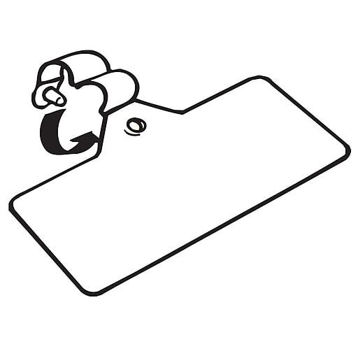 FFR Merchandising Plastic Fold-N-Hold Label Holder, White