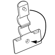 FFR Merchandising Fold-N-Hold Flush Polypropylene Sign Holder for Wire, 74/Pack
