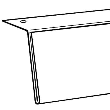FFR Merchandising ? Porte-affiche HB pour dessous de tablette de 3,5 x 48 po, transparent, 2/paquet (1503933901)