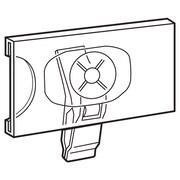 "FFR Merchandising® SuperGrip® 1 1/4"" x 2 1/2"" Swivel Clip Sign Holder, Clear, 50/Pack"