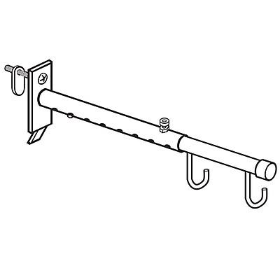 FFR Merchandising Gondola Upright Telescopic Hanging Metal Sign Holder, 2/Pack