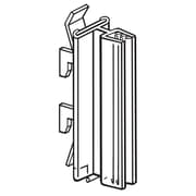 """FFR Merchandising® Gondola Upright SuperGrip® 3"""" Sign Holder Holds Up to 0.1"""" - 0.25""""T, Clear"""