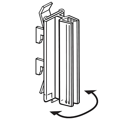 FFR Merchandising SuperGrip Gondola Upright PVC Sign Holder with Hinge Holds Thickness Up to 0.10