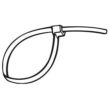 FFR Merchandising ? Bande de serrage permanente de 8 x 0,14 po, noir, 193/paquet (1701804512)