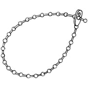 "FFR Merchandising® 6"" x 0.1875"" Releasable Beaded Locking Strap, Natural"