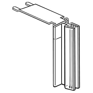 FFR Merchandising ? Porte-affiche SuperGrip en métal, dessus tablette, 3 po, capacité de 0,1 po, transparent, 9/pqt (1810514901)