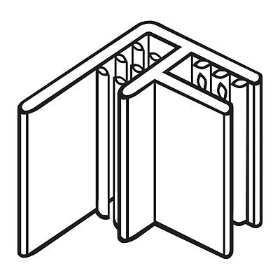 FFR Merchandising® SuperGrip® Flag Sign Holder For Scan Plate, Clear, 46/Pack