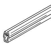 "FFR Merchandising® RAZZ System® 18""(L) Thin Poster Channel, Clear"