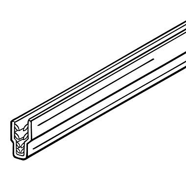 FFR Merchandising ? Glissière SuperGrip pour affiche pour système RAZZ, 12 po de long, transparent, 13/paquet (2007818501)