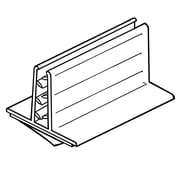 "FFR Merchandising Wide Base SuperGrip PVC Sign Holder, 1.25"" x 3"", 17/Pack"