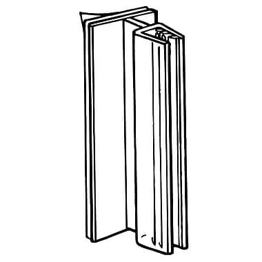 FFR Merchandising ? Porte-affiche SuperGrip à charnière, 3 po, 0,1 po épais, transparent, 17/pqt (2112624101)