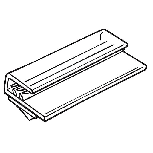 """FFR Merchandising® SuperGrip® 3"""" Flush Sign Holder Holds Up to 1/4""""T, Clear"""