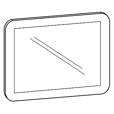 FFR Merchandising Counter Mat Vinyl Sign Holder, 17