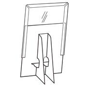 """FFR Merchandising Easel Back Wood Sign Holder, 14"""" x 11"""", 3/Pack (2163273506)"""