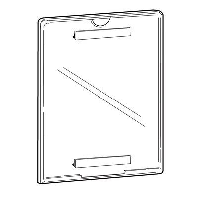 FFR Merchandising Tru-Vu Hook and Loop Styrene Sign Holder, 11