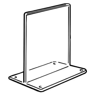 FFR Merchandising Tru-Vu T-Style Styrene Sign Holder, 11