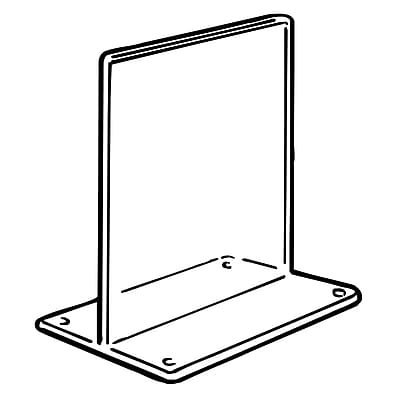 FFR Merchandising Tru-Vu T-Style Styrene Sign Holder, 6