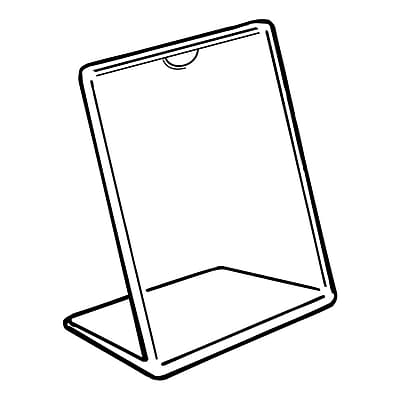 FFR Merchandising Tru-Vu Easel Styrene Sign Holder, 7