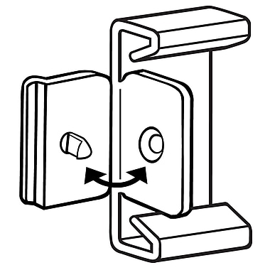FFR Merchandising ? Porte-affiche en drapeau Fold-N-Hold de 1,5 po pour plaque d?étiquettes, naturel, 65/pqt (2221888801)