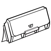 """FFR Merchandising® Fold-N-Hold® 0.625"""" x 1.5625"""" Flush Sign Holder With Adhesive, Natural"""