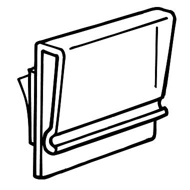 FFR Merchandising - Porte-affiche extrudé Tip-On de 1 po, transparent, 97/paquet (2607620201)