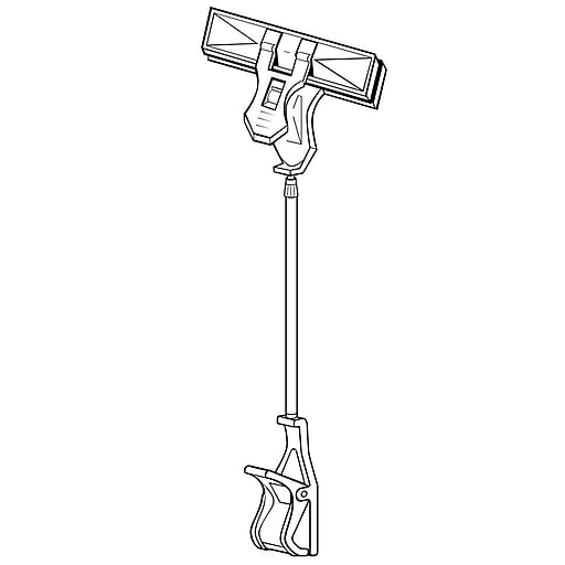 """FFR Merchandising® SuperGrip® 18"""" - 23"""" Telescopic Clip-On Sign Holder, Clear"""