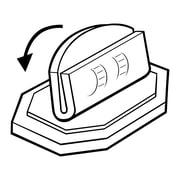 "FFR Merchandising Counter Top Adjustable Plastic Sign Holder, 1.19"" x 1.5"" , 14/Pack"