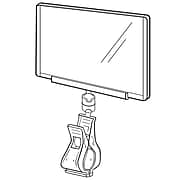 """FFR Merchandising® 5"""" x 7"""" Clip-On Sign Protector, White Knuckle, 4/Pack"""