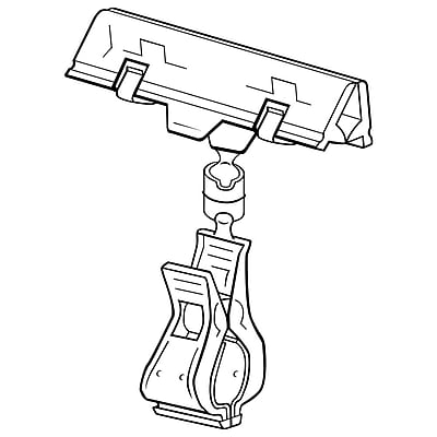 "FFR Merchandising 4"" Clip-On Spring Plastic Sign Holder, Clear Knuckle, 6/Pack"