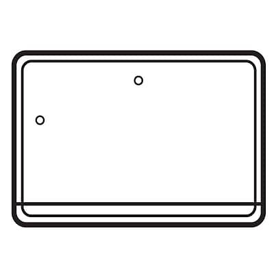 FFR Merchandising Polypropylene Vinyl Pouch Sign Holder Kit, 3