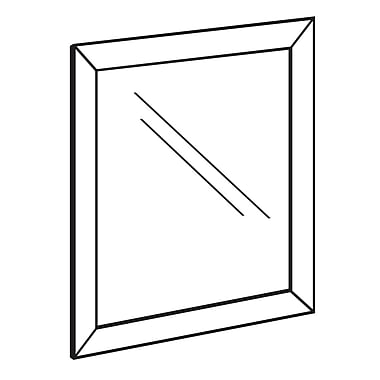 FFR Merchandising - Cadre d'affichage en aluminium à chargement par le devant, 11 x 8,5 po (3701134901)
